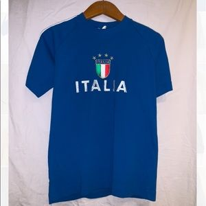 'Italia' Blue Shirt